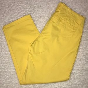 Crown & Ivy Yellow Capri Pants 4